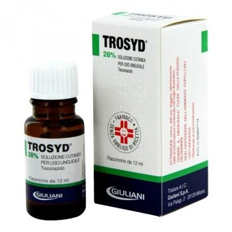 Trosyd soluzione Ungueale 12ml 28% Onicomicosi dell'unghia