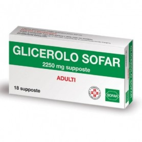 Glicerolo ADULTI 18 supposte 2250mg Sofar