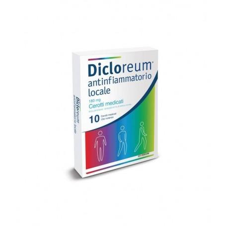 Dicloreum Antinfiammatorio Locale 10 cerotti Medicati 180mg