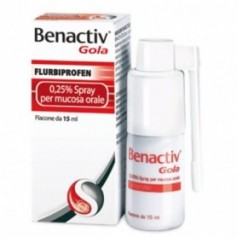 Benactiv Gola spray 15ml 0,25% Mal di Gola