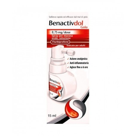 Benactivdol Gola spray 15ml 8,75 Mal di Gola