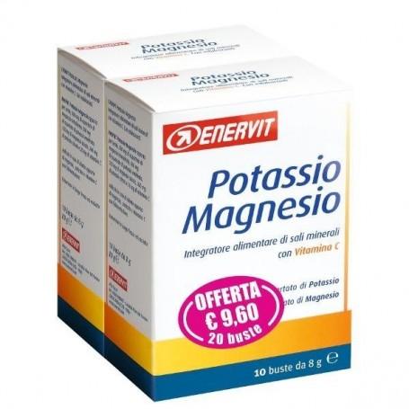 Enervit Potassio Magnesio 10 + 10 buste confezione doppia