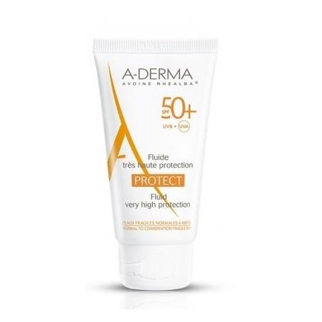 Aderma A-d Protect Fluido Protezione Solare 50+ Pelli normali e miste