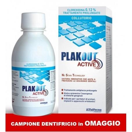 Plak Out Active 0,12% Collutorio Clorexidina + dentifricio OMAGGIO