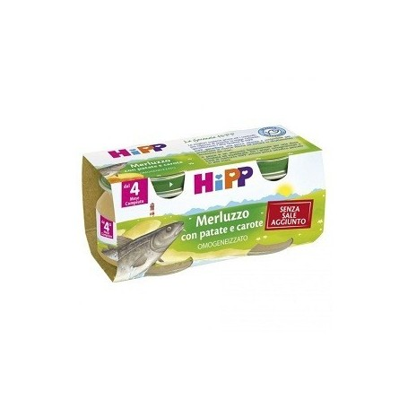 Hipp Omogeneizzato Merluzzo/carote/patata