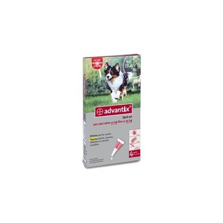 Advantix Spot On 4 pipette 10-25kg Antiparassitari Cani