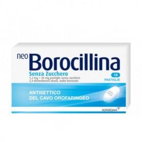 Neoborocillina 16 pastiglie senza zucchero Alfasigma