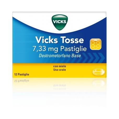 Vicks Tosse 12 pastiglie 7,33mg Miele
