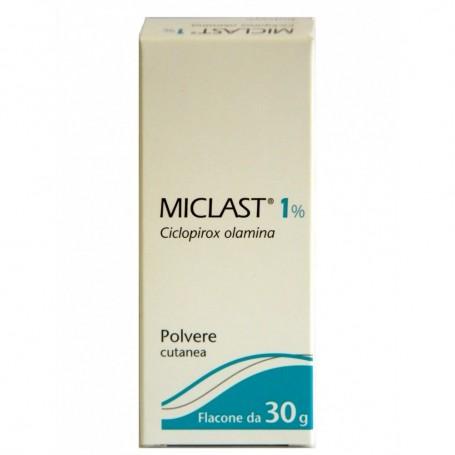 Miclast polvere Cutanea Fiale 30g 1%