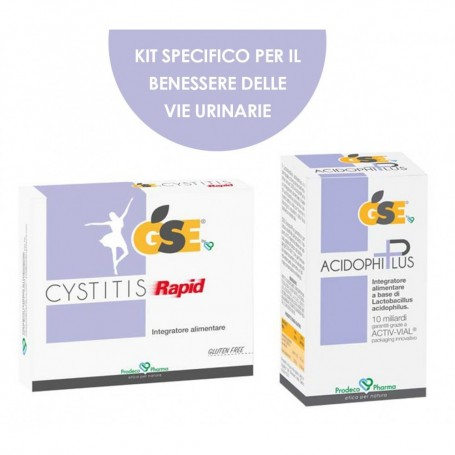 Kit Commerciale Gse Cystitis Rapid + acidophiplus per cistiti