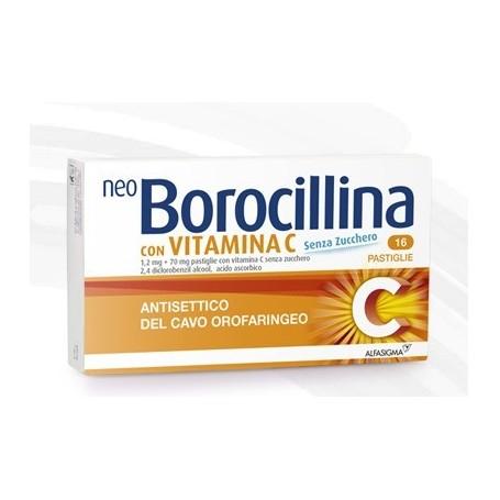 Neoborocillina C 16 pastiglie Senza Zucchero