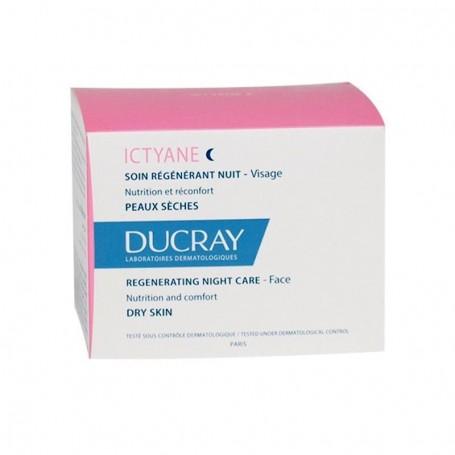Ducray Ictyane Notte Crema Viso 50ml Pelle Secca e molto Secca