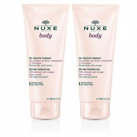 Nuxe Body Duo Gel Douche Fondant Petales Rose 200ml x 2 gel doccia