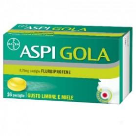 Aspi Gola 16 pastiglie Limone Miele mal di gola