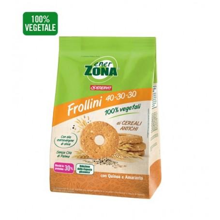 Enerzona Frollini 40-30-30 Vegetali Cereali Antichi Quinoa Amaranto 250g
