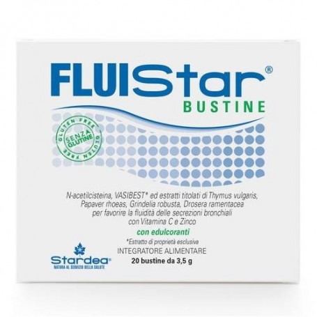 Fluistar Bustine 20 buste secrezioni bronchiali, tosse