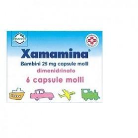 Xamamina Bambini 6 capsule 25 mg Mal d'auto
