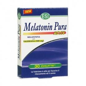 Esi Melatonin Pura Activ 30 ovalette Melatonina e Valeriana Sonno e Rilassamento