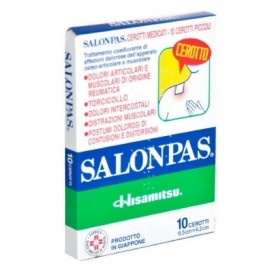 Salonpas 10 cerotti Medicati 6,5x4,2 cm Trattamento Dolori