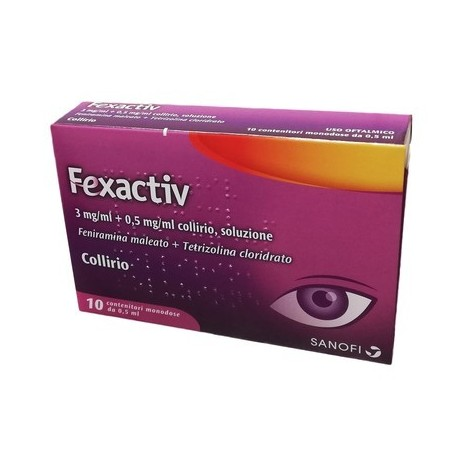 Fexactiv collirio 10 fiale 0,5ml Congiuntivite Allergica Occhi
