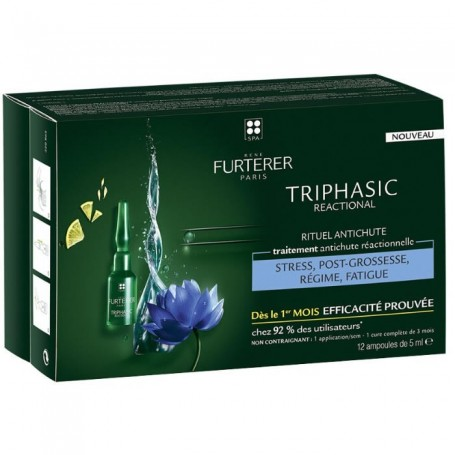 RENE FURTERER Triphasic Reactional 12 fiale 5ml Trattamenti Anticaduta