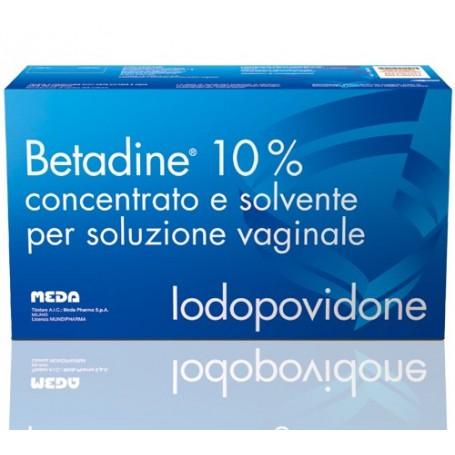 Betadine soluzione Vaginale 5flaconi 140 ml +5 flaconi 10 ml+ 5cannule