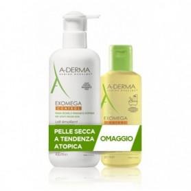 A-derma Exomega Control Latte emolliente 400ml + Olio lavante 200ml