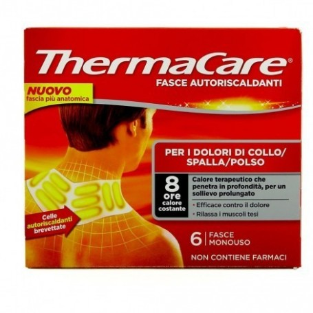 Thermacare Collo 6 fasce autoriscaldanti calore terapeutico