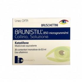 Brunistill collirio 20 flaconi monodose 0,5ml 0,025 Congiuntivite Allergica