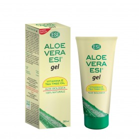 Aloe Vera Esi Gel Vitamina E Tea Tree Oil 100ml pelle secca e irritata