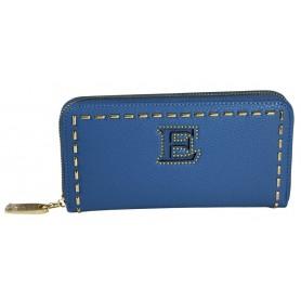 Scervino Portafogli Grande Con Zip Blu 1
